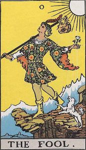 The tarot's fool steps blindly toward the edge of a cliff. Researchers also advance without a clear vision of what lies ahead.