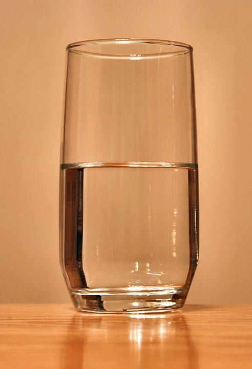 Half-full glass